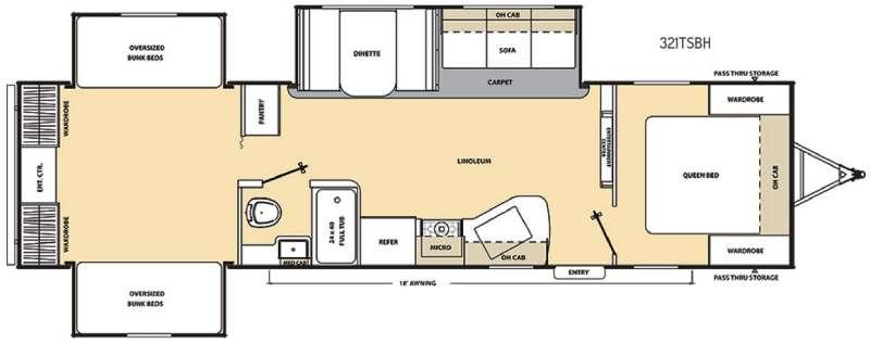 Floorplan - 2016 Coachmen RV Catalina SBX 321TSBH