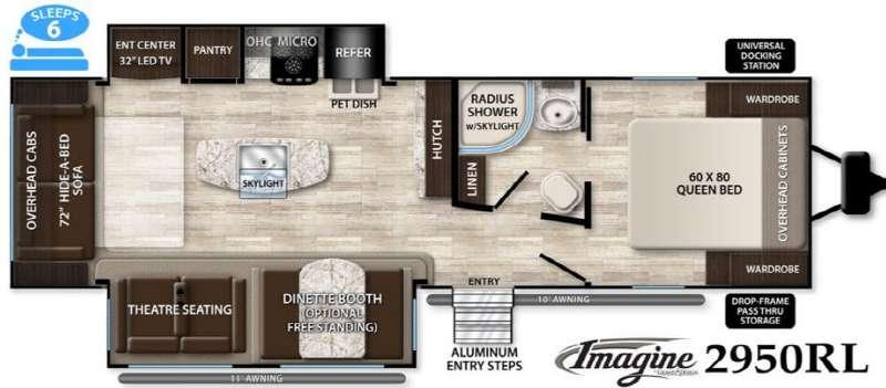 Floorplan - 2016 Grand Design Imagine 2950RL
