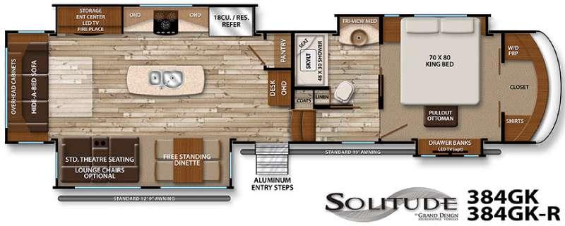 Floorplan - 2016 Grand Design Solitude 384GK