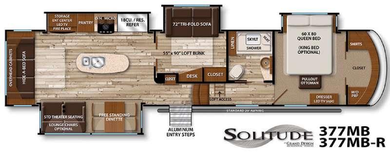 Floorplan - 2016 Grand Design Solitude 377MB R