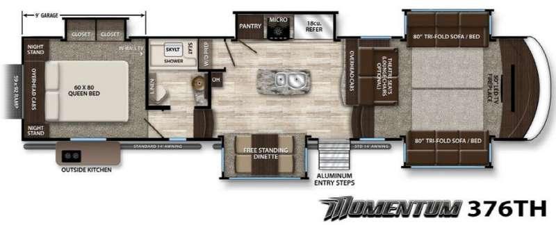 Momentum 376TH Floorplan Image