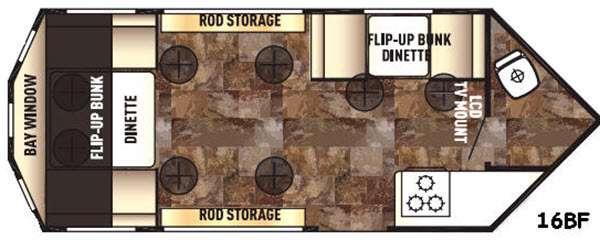 Floorplan - 2016 Forest River RV Cherokee Ice Cave 16BF