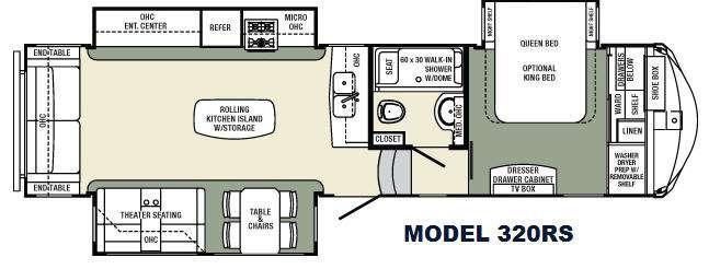 Floorplan - 2016 Palomino Columbus Compass F320RS