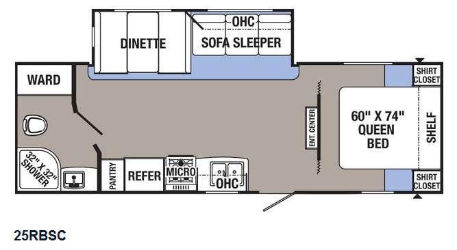 Floorplan - 2016 Palomino Puma XLE 25RBSC