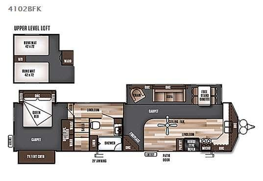 Wildwood Lodge 4102BFK Floorplan Image
