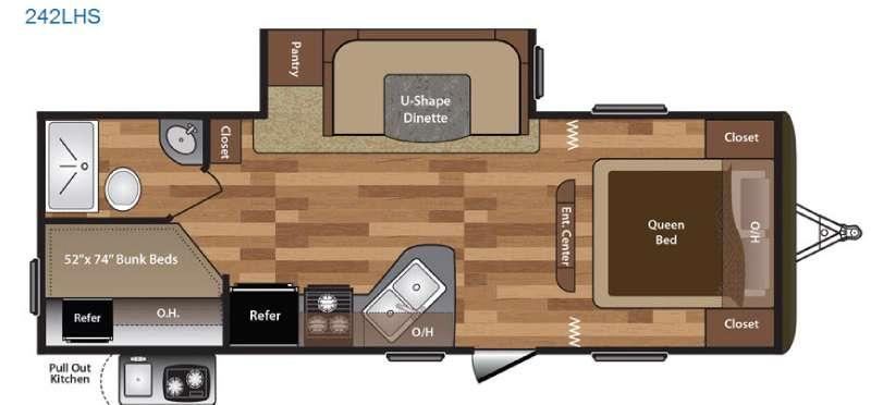 Floorplan - 2016 Keystone RV Hideout 242LHS