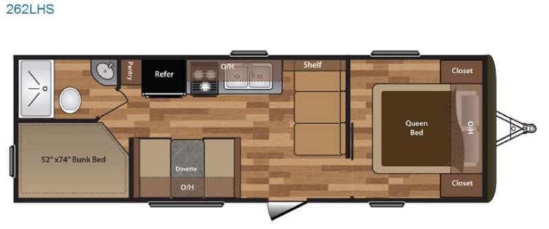 Floorplan - 2016 Keystone RV Hideout 262LHS