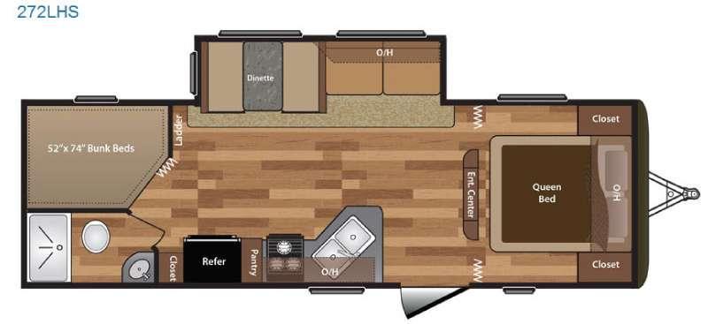 Floorplan - 2016 Keystone RV Hideout 272LHS