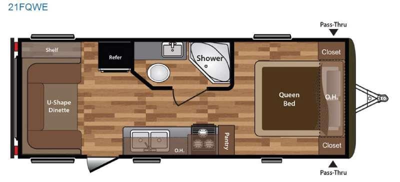 Floorplan - 2016 Keystone RV Hideout 21FQWE