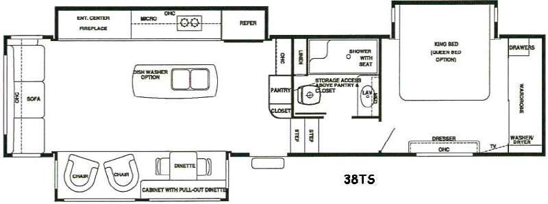 RiverStone 38TS Floorplan