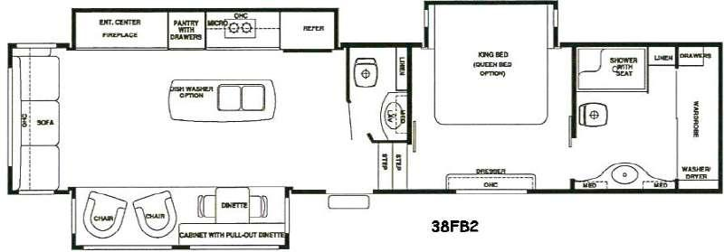 Floorplan - 2016 RiverStone 38FB2