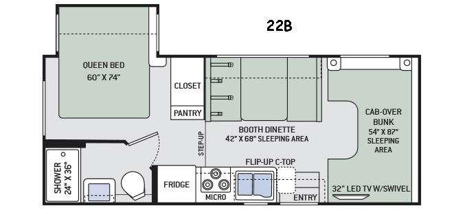 Four Winds 22B Chevy Floorplan Image