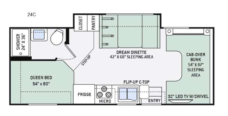 Four Winds 24C Chevy Floorplan Image