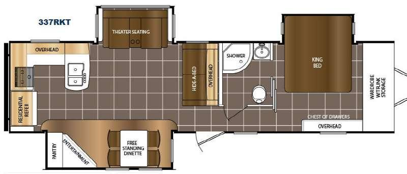 LaCrosse 337RKT Floorplan Image