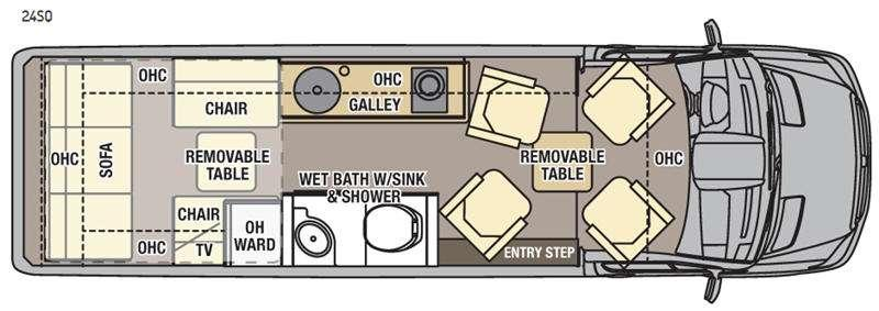 Floorplan - 2016 Coachmen RV Galleria 24SQ