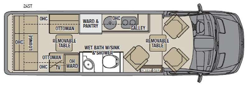 Floorplan - 2016 Coachmen RV Galleria 24ST