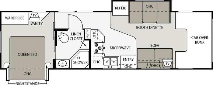 Floorplan - 2007 Four Winds RV Four Winds 31F