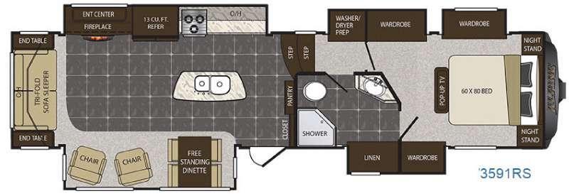 Floorplan - 2016 Keystone RV Alpine 3591RS
