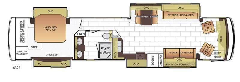 Floorplan - 2016 Newmar Ventana 4322