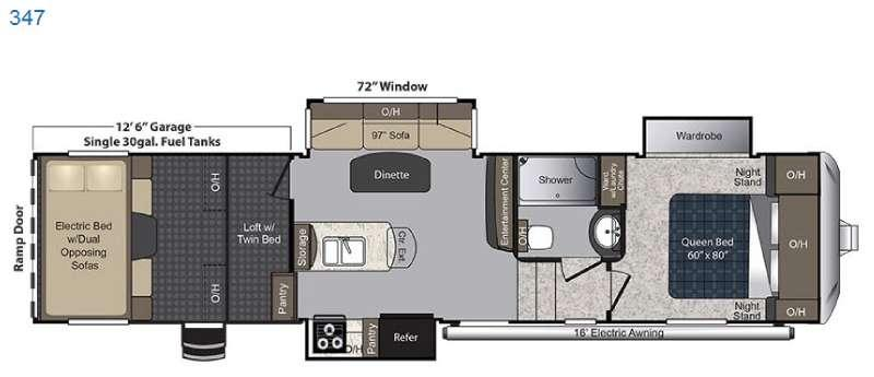 Floorplan - 2016 Keystone RV Carbon 347