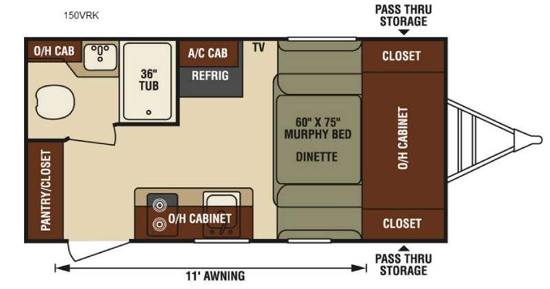 Floorplan - 2016 Venture RV Sonic Lite 150VRK