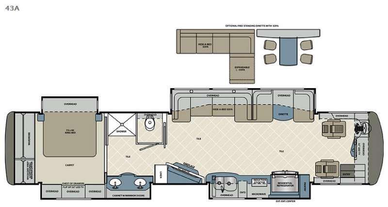 Floorplan - 2016 Forest River RV Berkshire XLT 43A