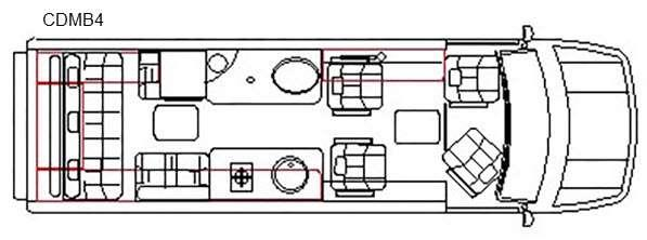 Floorplan - 2016 Chinook Countryside CDMB4