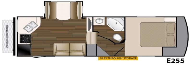 Floorplan - 2016 Heartland ElkRidge Xtreme Light E255