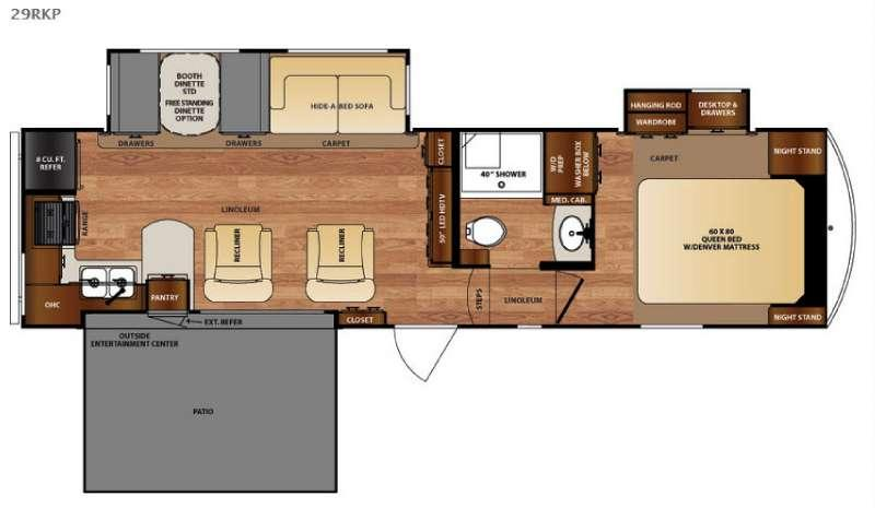 Floorplan - 2016 Forest River RV Wildcat 29RKP