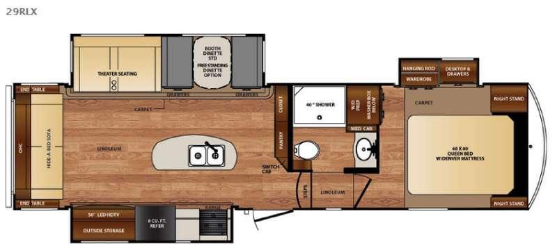 Floorplan - 2016 Forest River RV Wildcat 29RLX