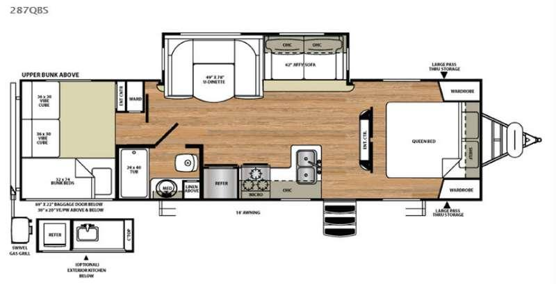 Vibe Extreme Lite 287QBS Floorplan Image
