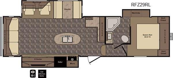 Floorplan - 2016 CrossRoads RV ReZerve RFZ29RL