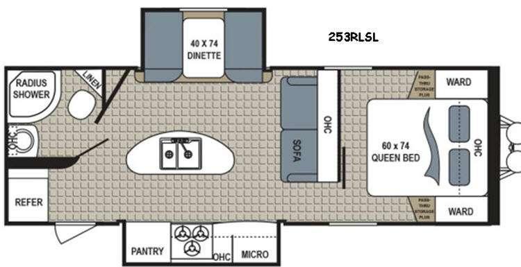 Kodiak Express 253RLSL Floorplan Image