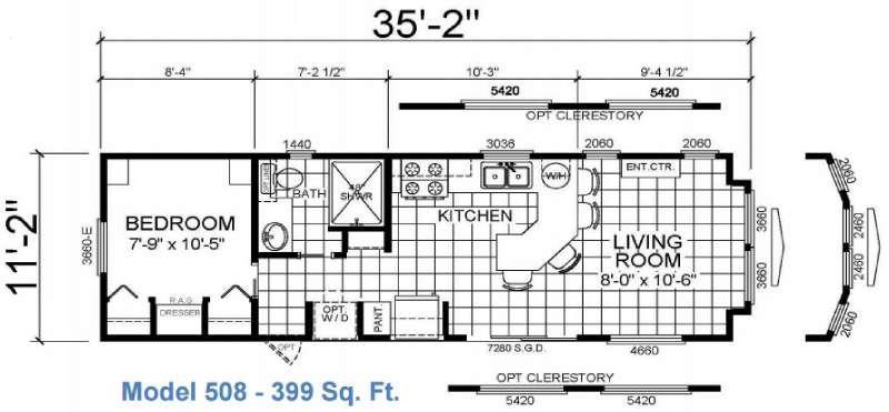Floorplan - 2016 Athens Park Homes Athens Park Series 508