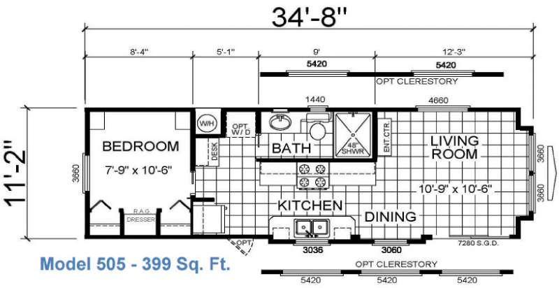 Floorplan - 2016 Athens Park Homes Athens Park Series 505