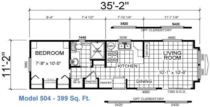 Floorplan - 2016 Athens Park Homes Athens Park Series 504