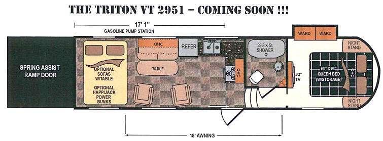 Floorplan - 2016 Dutchmen RV Triton 2951