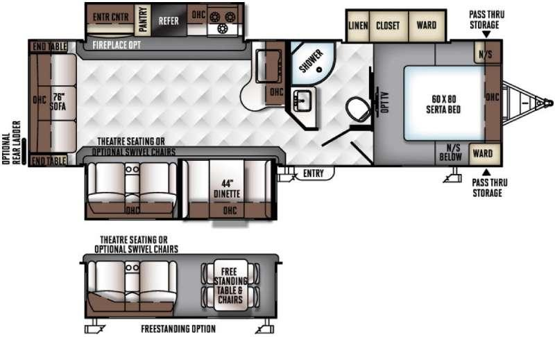 Floorplan - 2016 Forest River RV Rockwood Ultra Lite 2906WS