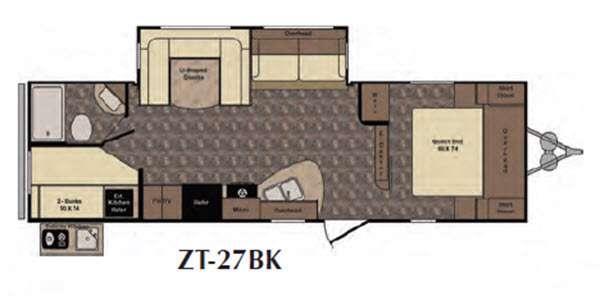 Floorplan - 2016 CrossRoads RV Zinger ZT27BK
