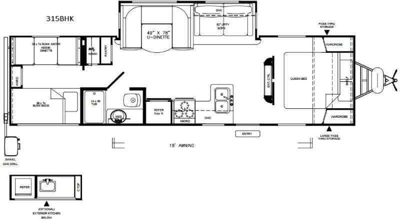 Vibe Extreme Lite 315BHK Floorplan Image