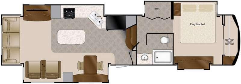 Floorplan - 2016 DRV Luxury Suites Elite Suites 40 KSSB4