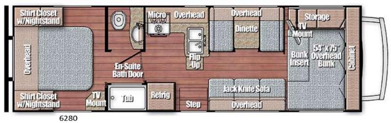 Floorplan - 2016 Gulf Stream RV Conquest Class C 6280