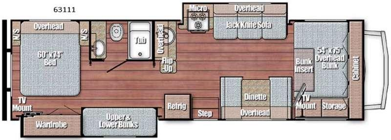 Floorplan - 2016 Gulf Stream RV Conquest Class C 63111