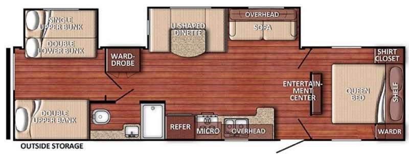 Floorplan - 2016 Gulf Stream RV Conquest 32TBSE SE Series