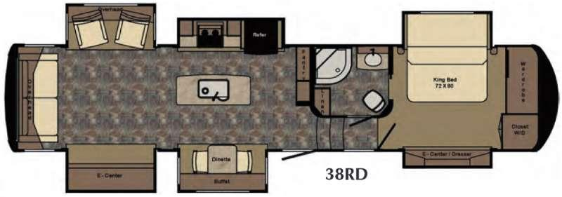 Floorplan - 2016 Redwood RV Redwood 38RD