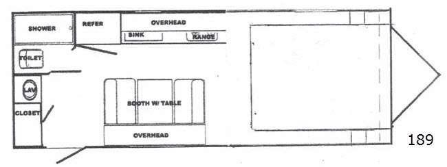 Floorplan - 2016 Riverside RV White Water 189R Retro