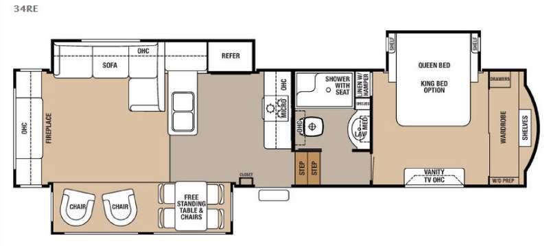 Cedar Creek 34RE Floorplan Image