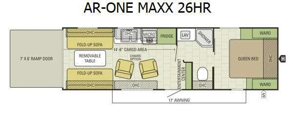 Floorplan - 2016 Starcraft AR-ONE MAXX 26HR