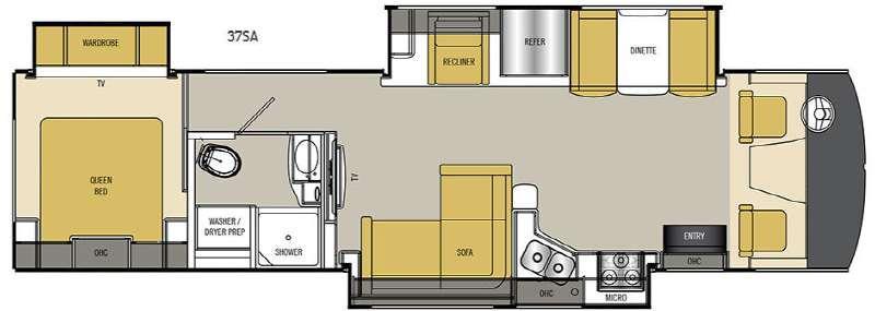 Floorplan - 2016 Coachmen RV Mirada Select 37SA