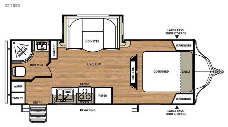 Floorplan - 2016 Forest River RV Vibe 221RBS